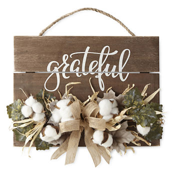 Shaker Woods Christmas In The Woods 2019.Jcpenney Home Grateful Cotton Wall Sign