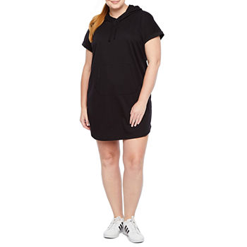 Xersion Short Sleeve Hooded Dress - Plus