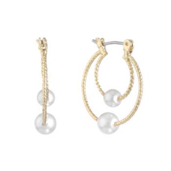 Monet Jewelry Monet Jewelry White 17.8mm Hoop Earrings