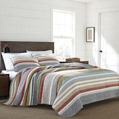 Eddie Bauer® Salmon Ladder Stripe Quilt - Sham Set