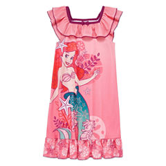 Disney Short Sleeve Disney Princess Nightshirt-Big Kid Girls
