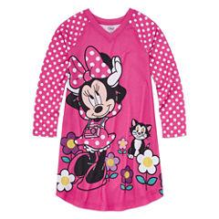Disney Long Sleeve Minnie Mouse Nightshirt-Big Kid Girls
