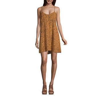Arizona-Juniors Plus Sleeveless Animal Fit & Flare Dress