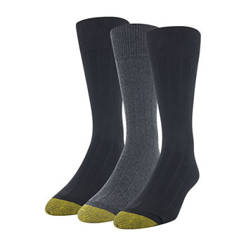 Gold Toe Mens 3 Pair Crew Socks