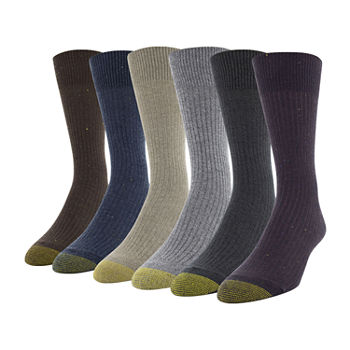 Gold Toe Mens 6 Pair Crew Socks