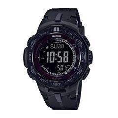 Casio Pro Trek Mens Black Strap Watch-Prw3100y-1b