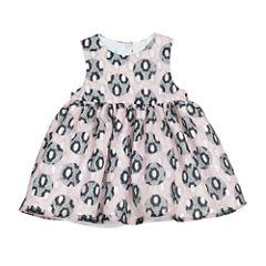 Marmellata Long Sleeve Circles A-Line Dress - Baby Girls
