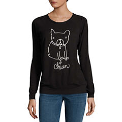 Buffalo Jeans Dog Graphic Cozy Sweatshirt Top