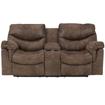 Fine Signature Design By Ashley Holton Double Reclining Loveseat With Console Inzonedesignstudio Interior Chair Design Inzonedesignstudiocom