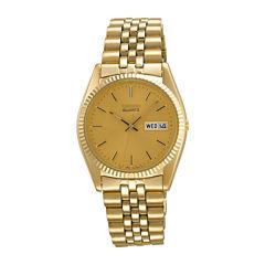 Seiko® Mens Gold-Tone Dress Watch SGF206