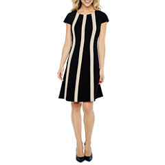 Ronni Nicole Short Sleeve Fit & Flare Dress