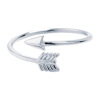 Silver Treasures Sterling Silver Bypass Arrow Ring
