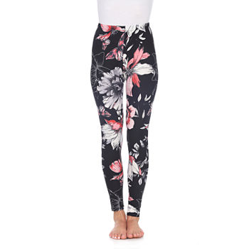 White Mark Womens Mid Rise Full Length Leggings