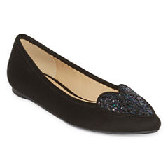 First Love Pointed-Toe Slip On Flats