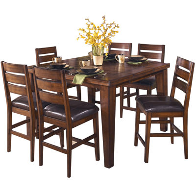 Beau Signature Design By Ashley® Larchmont Counter Height Dining Table With Leaf