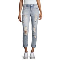 Vanilla Star Destructed Pearl Skinny Jeans-Juniors