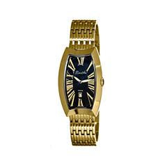 Bertha Laura Womens Swiss Black Dial Gold Tone Bracelet Watch Bthbr3204
