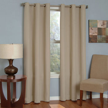 Eclipse Microfiber Energy Saving Blackout Grommet-Top Single Curtain Panel