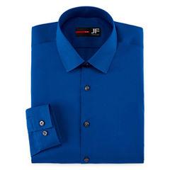 Jf J. Ferrar® Easy-Care Solid Slim Fit Long Sleeve Dress Shirt