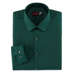 Jf J. Ferrar Easy-Care Solid-Big & Tall Long Sleeve Dress Shirt