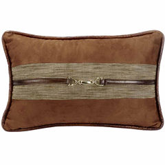 Hiend Accents 12x19 Suede With Buckle Detail Bed Rest Pillow