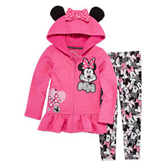 Disney by Okie Dokie 2-pc. Minnie Mouse Legging Set-Toddler Girls