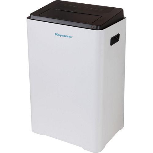 Keystone 16000 BTU 230V Portable Air Conditioner with Follow Me'' LCD Remote Control