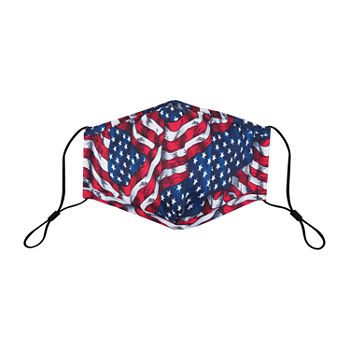 Land Of Liberty Waving Flag Unisex Adult Face Mask