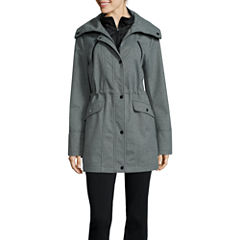 Liz Claiborne® Snap-Collar Softshell Jacket