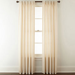 JCPenney Home™ Bayview Pinch-Pleat/Back-Tab Semi-Sheer Curtain Panel