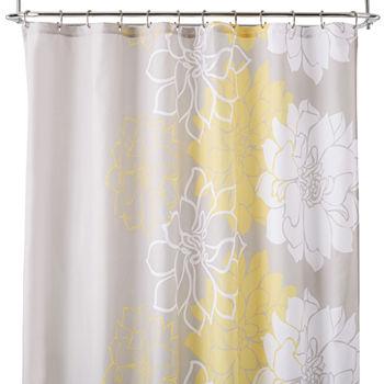 Kids Bathroom Décor Shower Curtains JCPenney - Gray contour bath rug for bathroom decorating ideas
