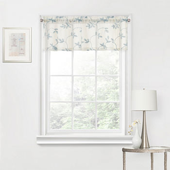 Regal Home Meadow Rod-Pocket Tailored Valance