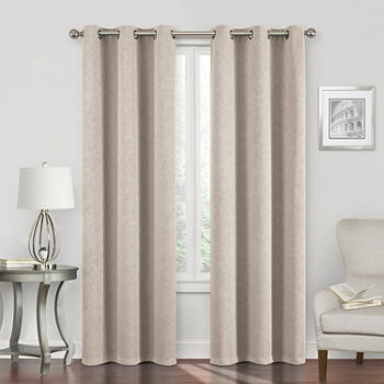 Regal Home Sterling Energy Saving Blackout Grommet-Top Single Curtain Panel