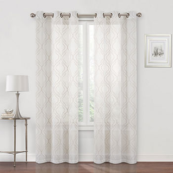 Regal Home Sterling Matte Sheer Grommet-Top Single Curtain Panel