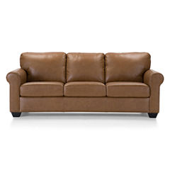 Leather Possibilities Roll-Arm Sofa