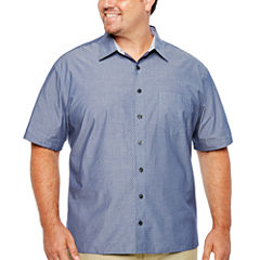Van Heusen Short Sleeve Never Tuck - Big & Tall