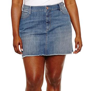 ce1c87a33 Arizona Womens Low Rise Short Denim Skirt-Juniors. Add To Cart. Few Left