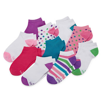 Hanes Big Girls 10 Pair Low Cut Socks