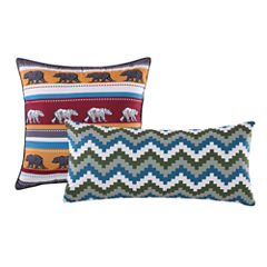 Greenland Home Fashions Black Bear Lodge 2-Pack Rectangular Throw Pillow