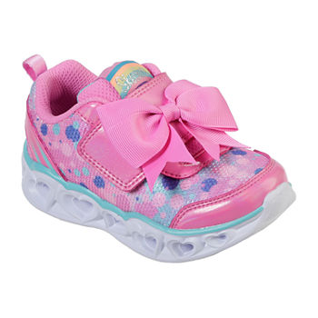 Girls' HEART LIGHTS slvr multi light up sneakers