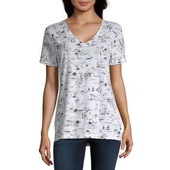0dcd7359a3 Women's T-Shirts | V-Neck Shirts for Women | JCPenney