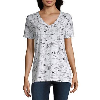 cd0e7725 Women's T-Shirts | V-Neck Shirts for Women | JCPenney