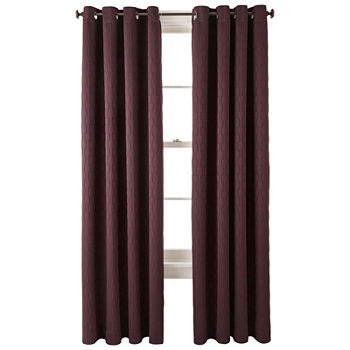 thermal solid window treatments curtains kitchen cor home mysky d blackout for x grommet purple top s ac insulated bedroom com amazon