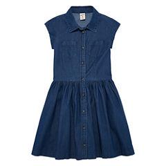 Arizona Dark Chambray Shirt Dress - Girls' 7-16 & Plus