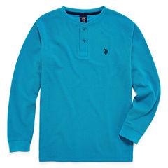 U.S. Polo Assn. Long Sleeve Henley Shirt - Big Kid Boys