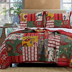 Greenland Home Fashions Arcadia Bohemian Quilt Set