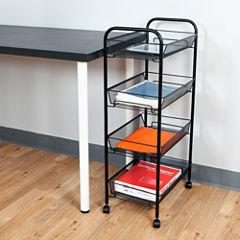 Mind Reader ' Roll ' Rolling 4-Shelf Cart