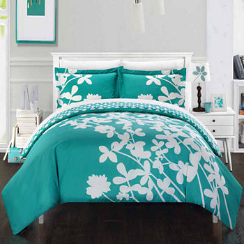 Chic Home Calla Lily 3-pc. Reversible Duvet Cover Set