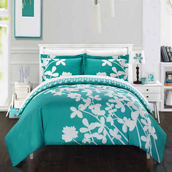 Chic Home Calla Lily 7-pc. Reversible Duvet Cover Set