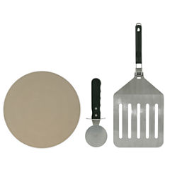 Mr. Bar B Q Pizza Stone Set